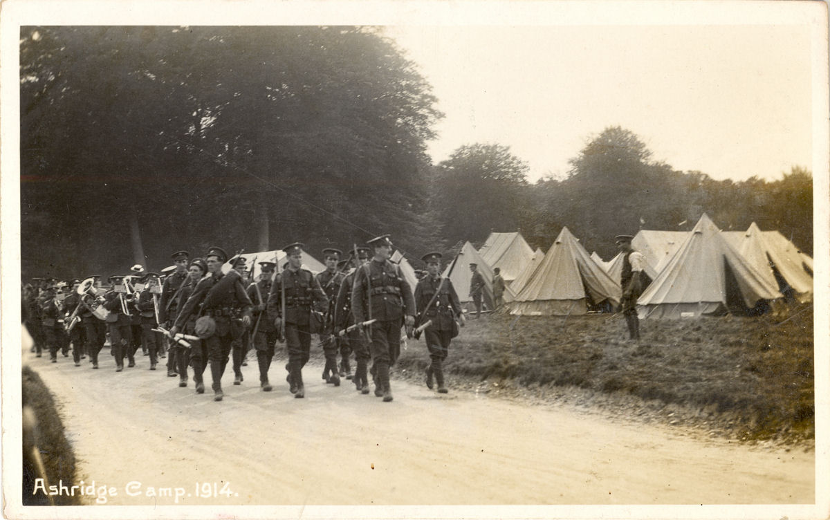 troops-ashridge-1914-marching-tents w1200